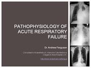 Pathophysiology of hypoxic respiratory failure