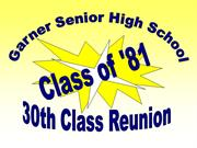 GSHS Class of 1981 (prepared by David Cawthorn, for 30th reunion)