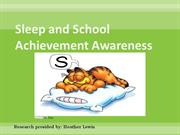 Sleep and School Achievement