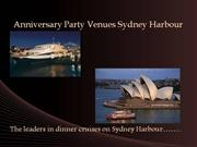 Anniversary Dinner Party Venues Sydney