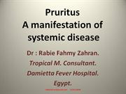 Pruritus A manifestation of systemic disease