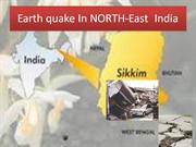 Earth quake In NORTH-East  India