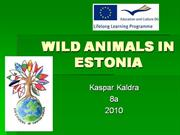 wild animals in estonia