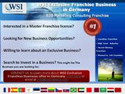 WSI Exclusive Franchise Business in Germany