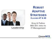 Class 07 - Robust Adaptive Strategies (RAS)