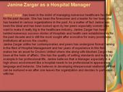 Janine Zargar as a Hospital Manager
