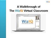 A Walkthrough of WizIQ Virtual Classroom