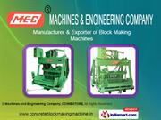 Concrete Block Making Machine By Machines And Engineering Company,