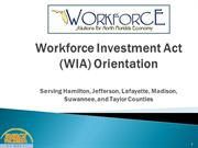New Automated WIA Orientation with voice