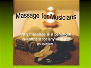 Massage for Musicians