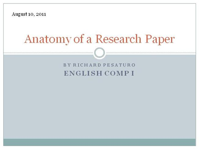 anatomy research paper topics