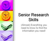 Senior Research Topics