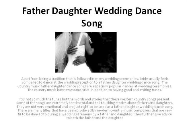 Father Daughter Wedding Dance Song Authorstream,Pictures Of Ducks In Michigan