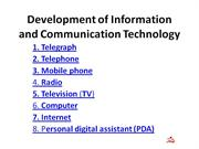 development of ict