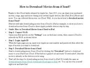 How to Download Movies From iCloud