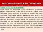 great value sharanam sector 107 noida, 9654435045, coming soon 5 bhk a