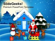 NATURE CHRISTMAS SCENE HOLIDAYS PPT TEMPLATE