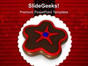 FOOD CHRISTMAS COOKIES CELEBRATION HOLIDAYS PPT TEMPLATE