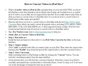 How to Convert Videos to iPad Mac
