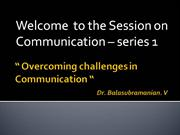 Overcoming challenges in Communication
