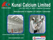 Calcium Carbonate For Pharmaceuticals By Kunal Calcium Limited
