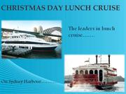 Christmas Day Lunch Cruise Sydney