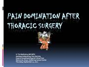 thoracic surgical pain management