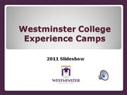 Westminster College Experience Camps