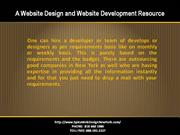A Website Design and Website Development Resource