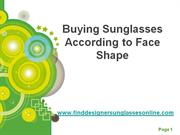 Buying Sunglasses According to Face Shape