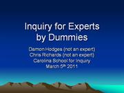 Inquiry for Experts