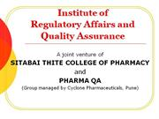 Pharma Regulatory And Quality Assurance