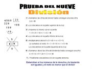 prueba del nueve division