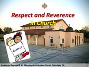 Respect and Reverence in Church