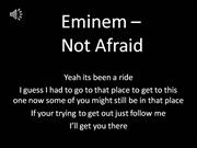 eminem - not afraid lyrics clean