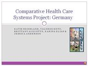 comparative health care systems: germany