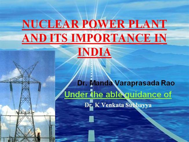 Nuclear power plant dr varaprasada rao authorstream ccuart Choice Image
