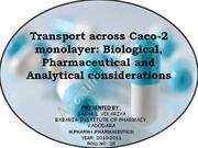 CaCo2 monolayer model- biological, pharmaceutical, analytical concider
