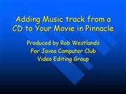 Adding CD Music to your Movie
