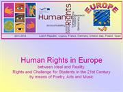 Comenius Project Human Rights in Europe