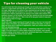 Tips for cleaning your vehicle
