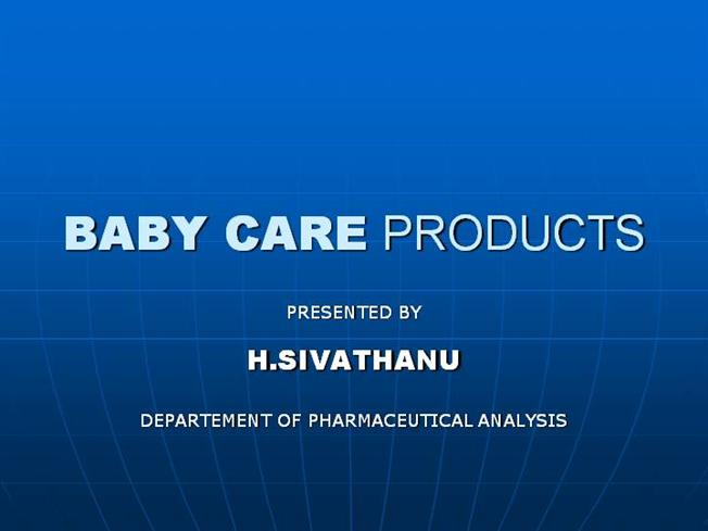 Baby Care Products |authorSTREAM