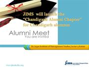JIMS Invitation for Launching of Chandigarh Alumni Chapter, JIMS