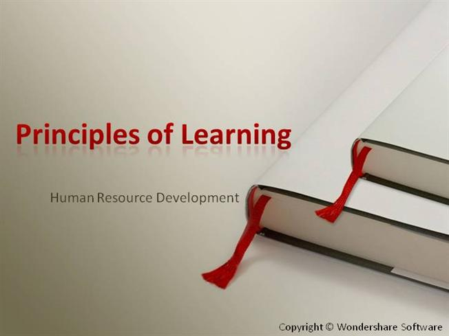 40824464 Hrd Ppt 2 Learning Principles Authorstream