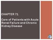acute renal failure and chronic kidney disease