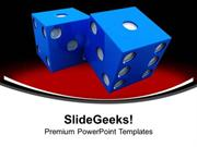 SPORTS CASINO GAME DICES LIFESTYLE PPT TEMPLATE
