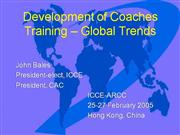 Development of Coaches Training - Global