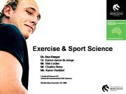 Exercise and Sports Science