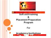 Placement Preparation Program for Academics Institutions