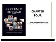 Schiffman Consumer Behavior Chapter 4 Consumer Motivation